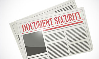 Document security in a document management system